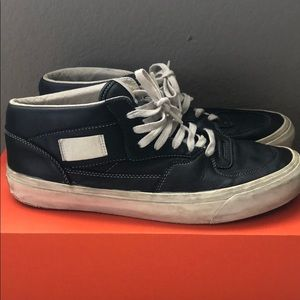 Vans Black Leather Half Cab Shoes Sz. 11